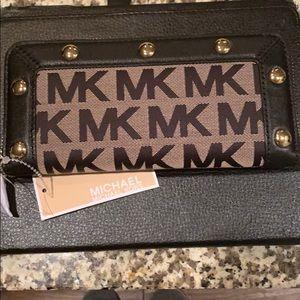 Michael Michael Kors Wallet - Black Leather Trim